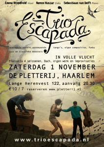 Poster concert op 1 november in Haarlem